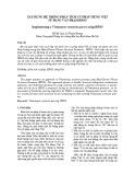 Xây dựng hệ thống phân tích cú pháp tiếng Việt sử dụng văn phạm HPSG