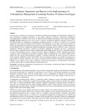 Adoption, importance and barriers to the implementation of contemporary management accounting practices: Evidence from egypt