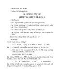 Đề cương ôn tập kiểm tra 1 tiết HK1 môn Hóa học 8 năm 2019-2020 - Trường THCS Long Toàn
