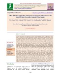 Effect of foliar application of organic and inorganic substances on the yield of chick pea under limited water supply