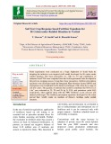 Soil test crop response based fertilizer equations for Bt cotton under rainfed situation in Vertisol