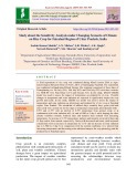 Study about the sensitivity analysis under changing scenario of climate on rice crop for Faizabad region of Uttar Pradesh, India