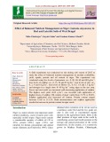 Effect of balanced nutrient management on Niger (Guizotia abyssinica) in red and lateritic soils of west Bengal