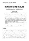 Vai trò của pháp luật trong việc thực hiện quyền tự do kinh doanh trên mạng internet trong nền kinh tế thị trường hiện nay