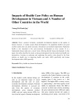 Impacts of health care policy on human development in Vietnam and a number of other countries in the world