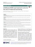 Childhood ADHD and treatment outcome: The role of maternal functioning