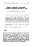 Kế hoạch và giải pháp tự chủ tài chính của trường Đại học Thủ đô Hà Nội đến năm 2021