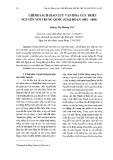 Chính sách giao lưu văn hóa của triều Nguyễn với Trung Quốc (giai đoạn 1802-1884)