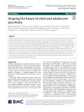 Shaping the future of child and adolescent psychiatry