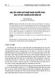 Đặc sắc ngôn ngữ nghệ thuật Nguyễn Tuân qua tùy bút Người lái đò sông Đà