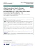 Multidimensional family therapy in adolescents with a cannabis use disorder: Long-term effects on delinquency in a randomized controlled trial