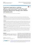 Treatment expectancy, working alliance, and outcome of Trauma-Focused Cognitive Behavioral Therapy with children and adolescents