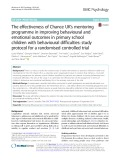 The effectiveness of Chance UK's mentoring programme in improving behavioural and emotional outcomes in primary school children with behavioural difficulties: Study protocol for a randomised controlled trial