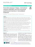 Association between fatigue, motivational measures (BIS/BAS) and semi-structured psychosocial interview in hemodialytic treatment