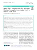 Reality shock in radiography: Fact or fiction  findings from a phenomenological study in Durban, South Africa