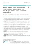 Healthy Learning Mind - a school-based mindfulness and relaxation program: A study protocol for a cluster randomized controlled trial