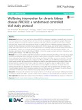 Wellbeing intervention for chronic kidney disease (WICKD): A randomised controlled trial study protocol