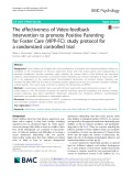 The effectiveness of Video-feedback Intervention to promote Positive Parenting for Foster Care (VIPP-FC): Study protocol for a randomized controlled trial