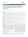 The relationship between trait empathy and memory formation for social vs. non-social information