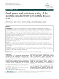 Development and preliminary testing of the psychosocial adjustment to hereditary diseases scale