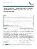 Test-retest reliability of Common Mental Disorders Questionnaire (CMDQ) in patients with total hip replacement (THR)