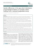 Gender differences in the age-cohort distribution of psychological distress in Canadian adults: Findings from a national longitudinal survey