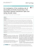 An investigation of the mediating role of personality and family functioning in the association between attachment styles and eating disorder status