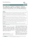 Are subjective cognitive complaints related to memory functioning in the working population