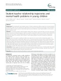 Student-teacher relationship trajectories and mental health problems in young children