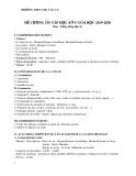 Đề cương ôn tập học kì 1 môn Tiếng Pháp 10 năm 2019-2020 - Trường THPT Chu Văn An