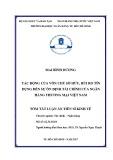 Tóm tắt Luận án Tiến sĩ Kinh tế: Tác động của vốn chủ sở hữu, rủi ro tín dụng đến sự ổn định tài chính của ngân hàng thương mại Việt Nam