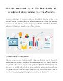 Automation marketing là gì? Cách tiếp thị cực kì hiệu quả bằng phương pháp tự động hóa
