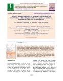 Influence of foliar application of secondary and micronutrient combinations on plant height and plant canopy spread attributes pertaining to guava cv. Allahabad safeda