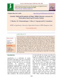 Growth, yield and economics of finger millet (Eleusine coracana) in Melia dubia based agro forestry system