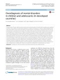 Overdiagnosis of mental disorders in children and adolescents (in developed countries)
