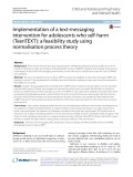 Implementation of a text-messaging intervention for adolescents who self-harm (TeenTEXT): A feasibility study using normalisation process theory