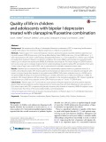Quality of life in children and adolescents with bipolar I depression treated with olanzapine/fuoxetine combination