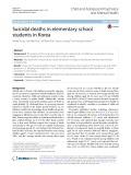 Suicidal deaths in elementary school students in Korea