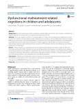 Dysfunctional maltreatment-related cognitions in children and adolescent