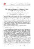 Các xu hướng nghiên cứu Marketing xanh: Lý thuyết và vận dụng thực tiễn