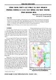 Tính toán thủy lực phục vụ quy hoạch phòng chống lũ lưu vực sông Cái Nha Trang – Tỉnh Khánh Hòa