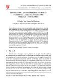 Định danh và khảo sát một số tính chất của chủng Lactobacillus farciminis NM6 phân lập từ nước mắm