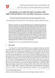 Ảnh hưởng của một số chất tạo bông đến hiệu suất kết bông của tảo Silic Skeletonema costatum