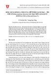 Khả năng kháng nấm của chế phẩm nano bạc – TBS đối với Macrophoma theicola gây hại trên quả quýt Hương Cần (Citrus deliciosa T.)