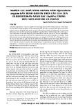 Nghiên cứu khả năng kháng nấm Pyricularia oryzae gây bệnh đạo ôn trên cây lúa của Oligochitosan-nano bạc (AgNPs) trong điều kiện invitro và invivo