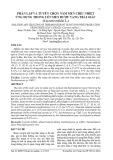 Phân lập và tuyển chọn nấm men chịu nhiệt ứng dụng trong lên men rượu vang trái giác (Cayratia trifolia L.)