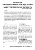 Đánh giá hiệu quả kinh tế rừng trồng bời lời đỏ (Machilus odoratissima nees) thuần loài và xen sắn tại huyện Hướng Hóa tỉnh Quảng Trị