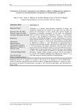 Đánh giá thành phần hóa học và tác dụng ức chế nảy mầm và phát triển của hạt cỏ lồng vực (Echinochloa crus-gali L.) từ cao chiết cây bồ công anh (Hypochaeris radicata L.)