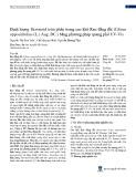 Định lượng flavonoid toàn phần trong cao khô Rau đắng đất (Glinus oppositifolius (L.) Aug. DC.) bằng phương pháp quang phổ UV-Vis