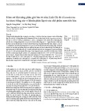 Khảo sát khả năng phân giải bào tử nấm Linh Chi đỏ (Ganoderma lucidum) bằng các vi khuẩn phân lập từ các chế phẩm men tiêu hóa